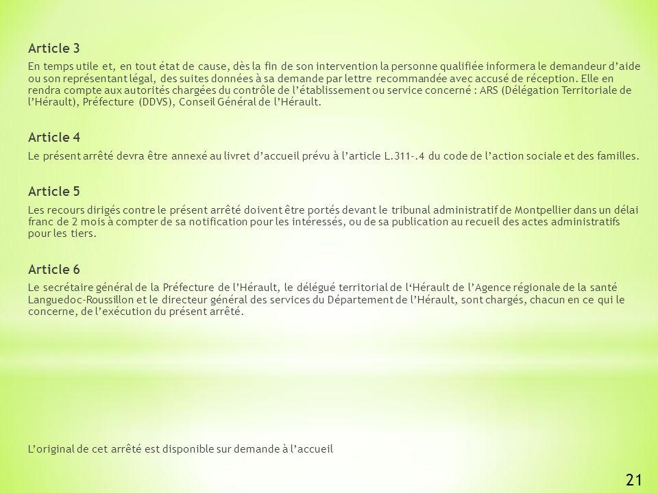 21 Article 3 Article 4 Article 5 Article 6
