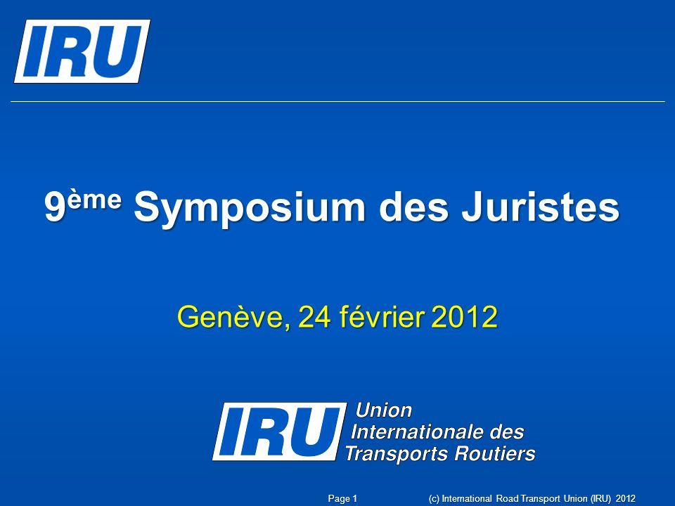 9ème Symposium des Juristes