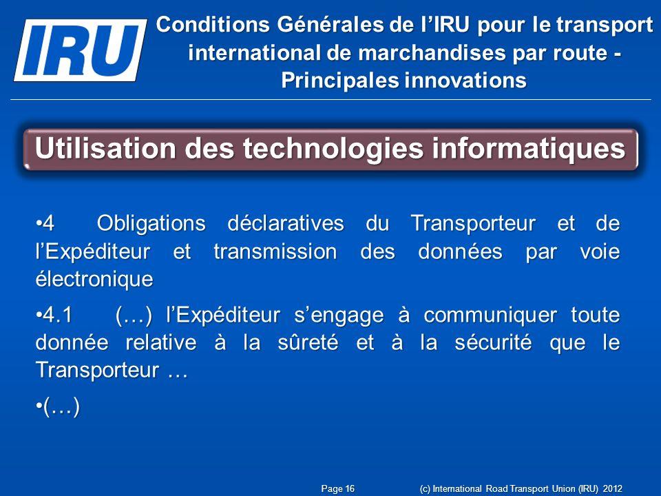 Utilisation des technologies informatiques