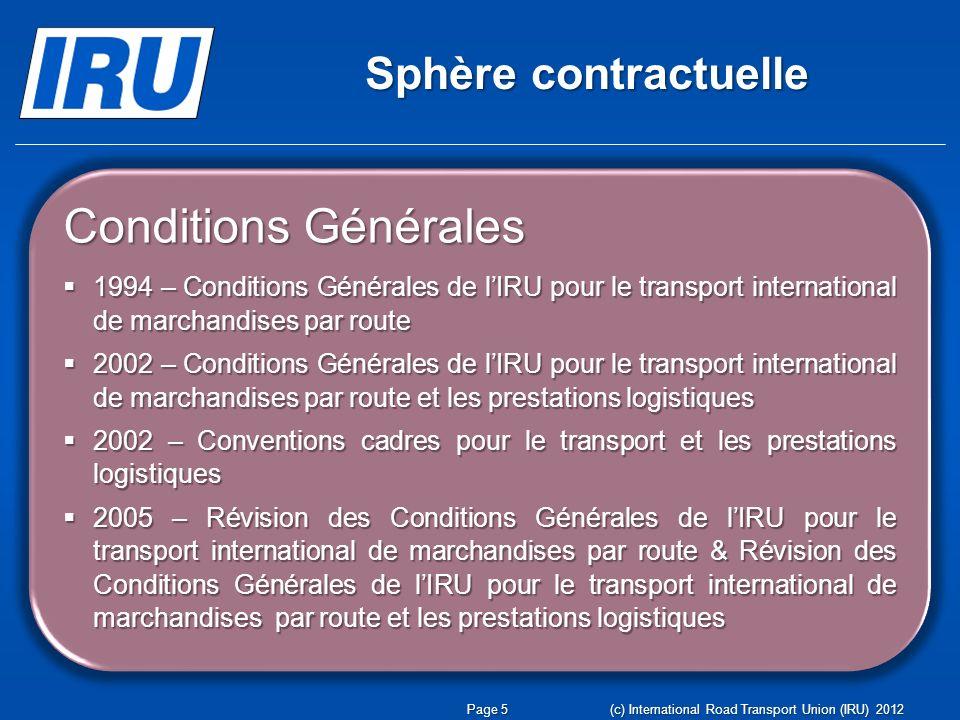 Conditions Générales Sphère contractuelle