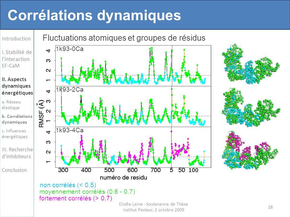 Corrélations dynamiques