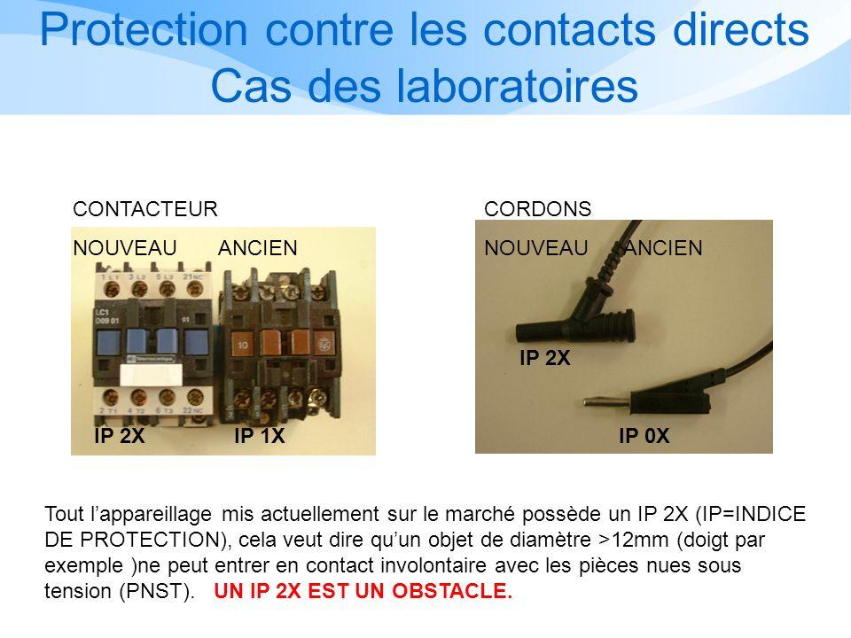 Protection contre les contacts directs Cas des laboratoires