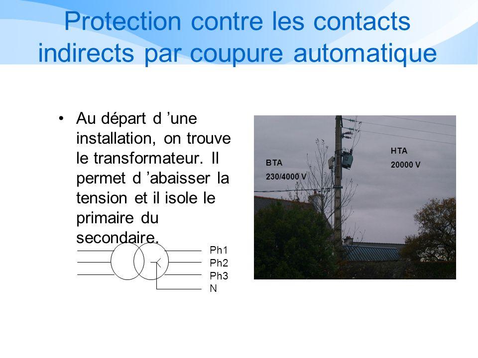 Protection contre les contacts indirects par coupure automatique