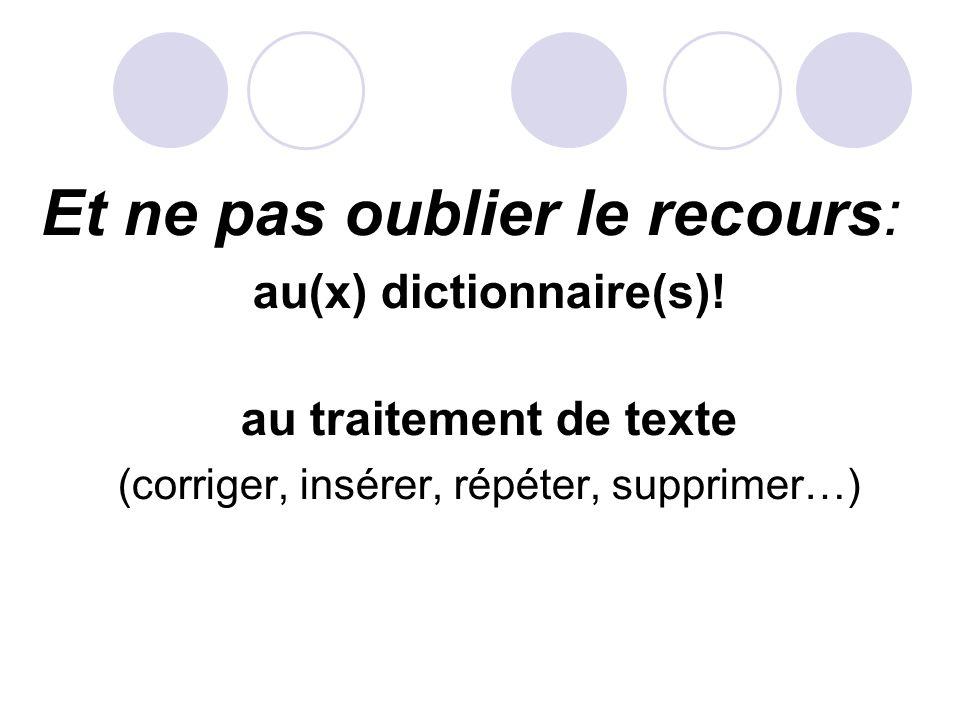 au(x) dictionnaire(s)!