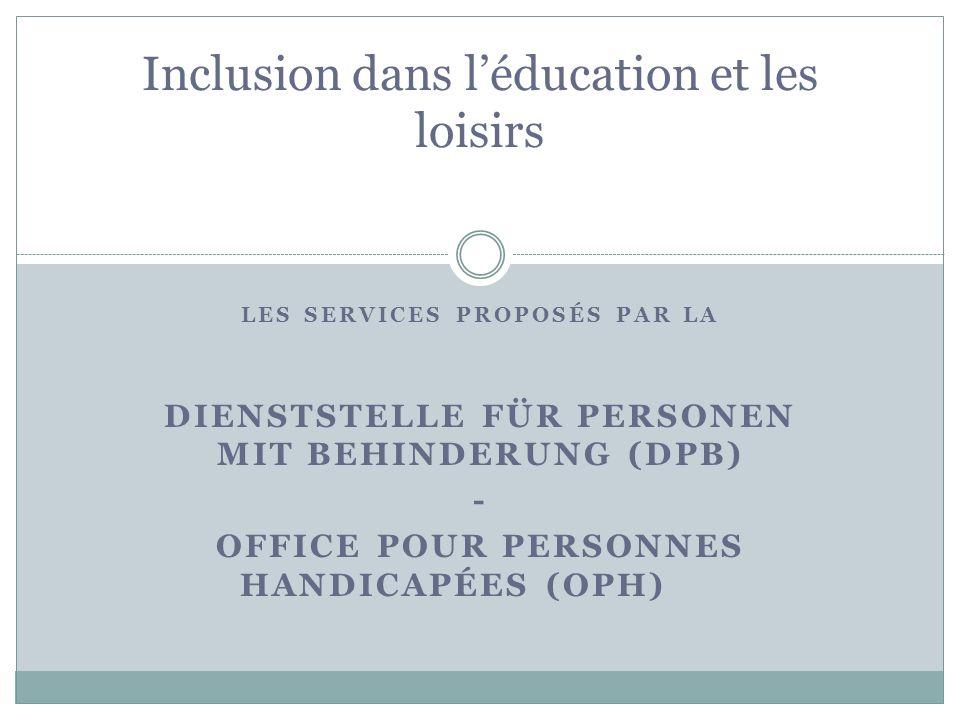 Inclusion dans l'éducation et les loisirs