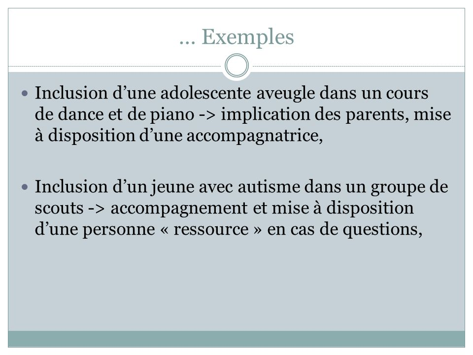 … Exemples