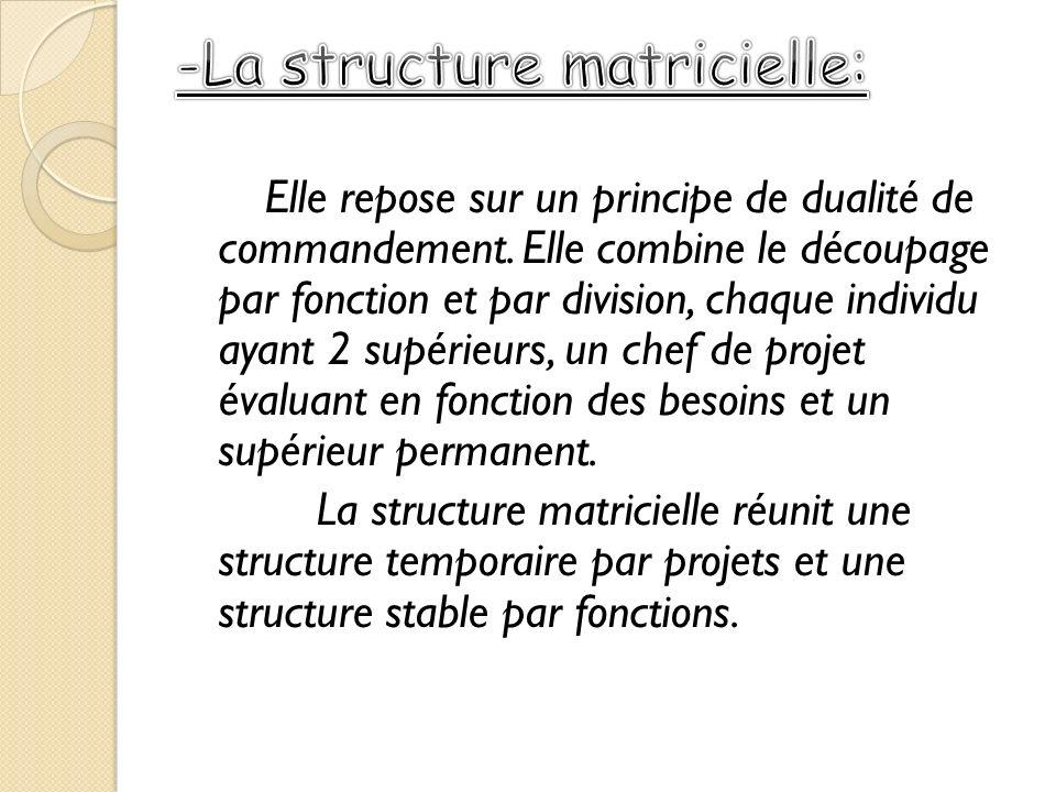 -La structure matricielle: