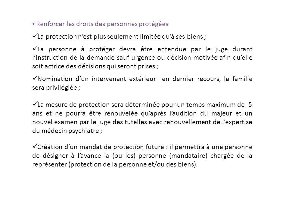 Renforcer les droits des personnes protégées