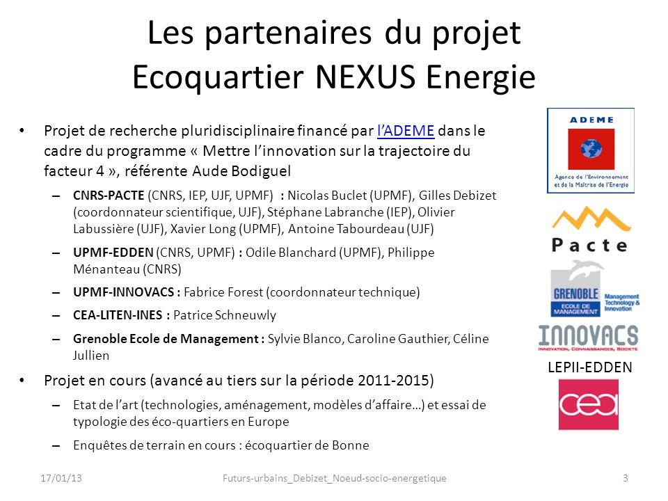 Les partenaires du projet Ecoquartier NEXUS Energie