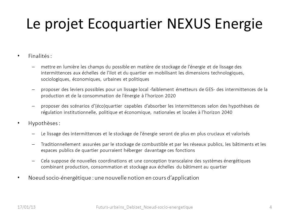 Le projet Ecoquartier NEXUS Energie