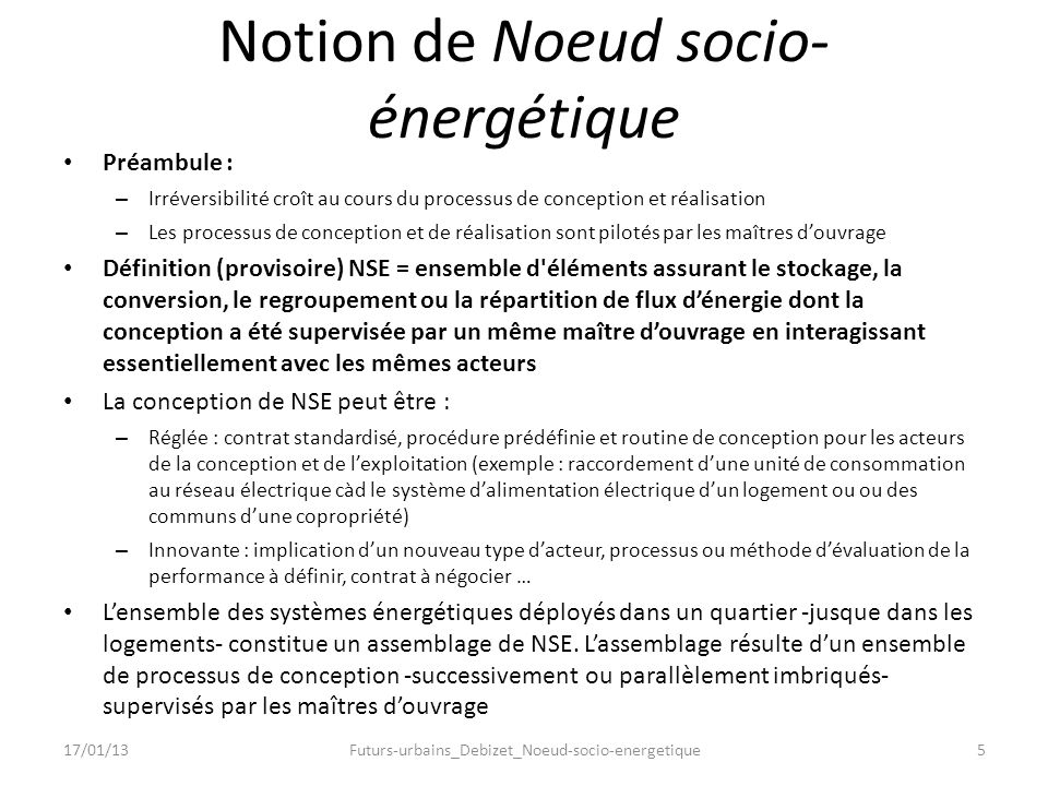 Notion de Noeud socio-énergétique