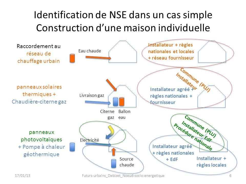Identification de NSE dans un cas simple Construction d'une maison individuelle
