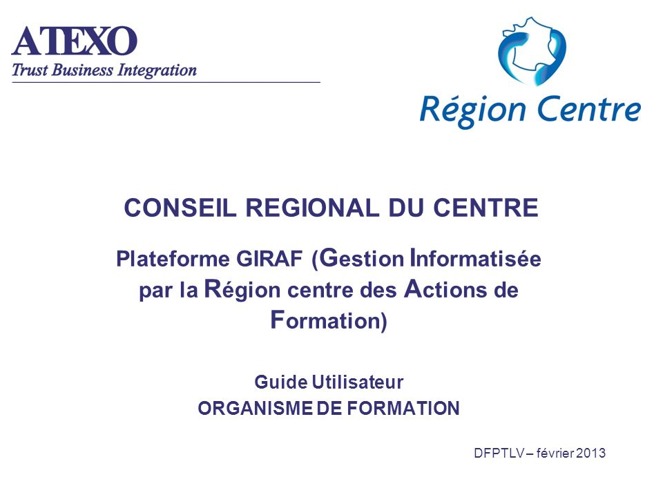 CONSEIL REGIONAL DU CENTRE
