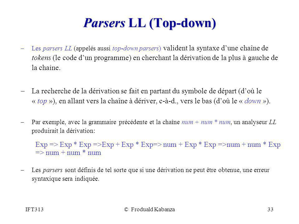 Parsers LL (Top-down)
