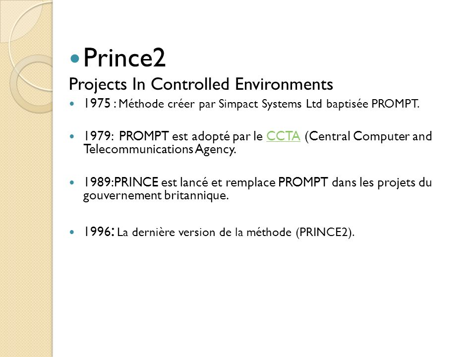 Prince2 Projects In Controlled Environments