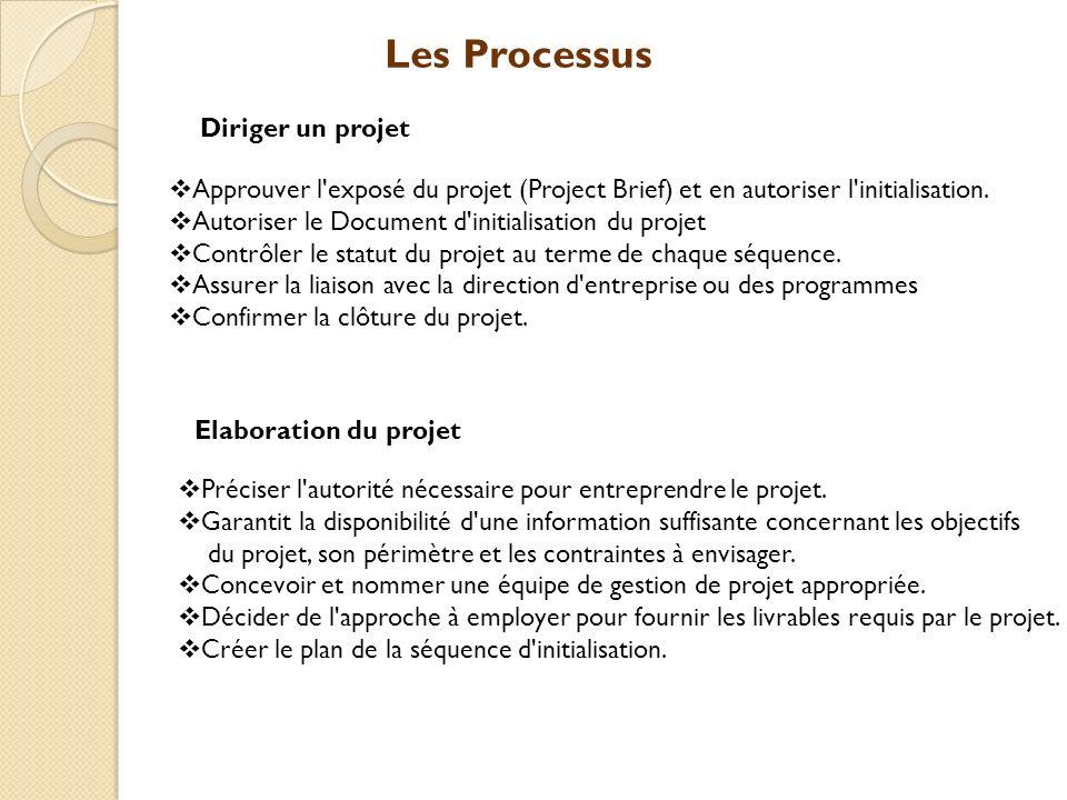 Les Processus Diriger un projet
