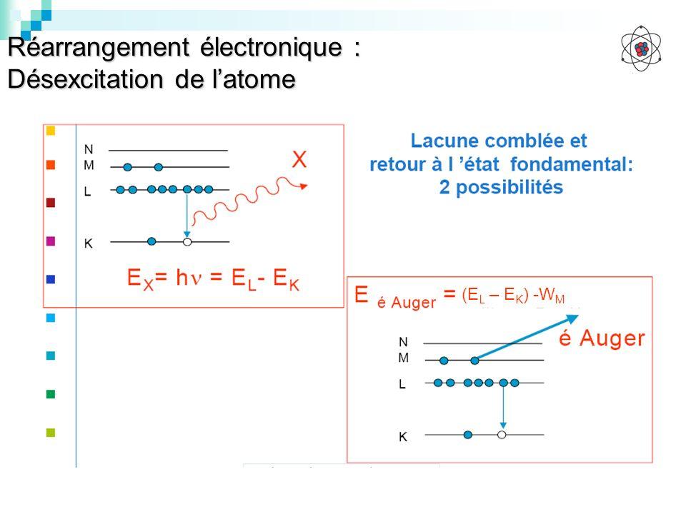 Réarrangement électronique : Désexcitation de l'atome
