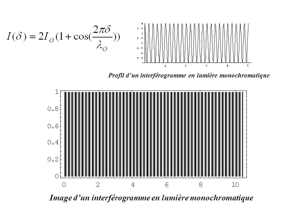 Image d'un interférogramme en lumière monochromatique