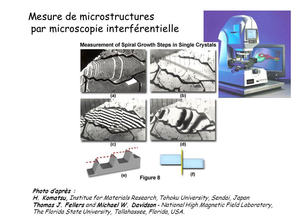 Mesure de microstructures par microscopie interférentielle