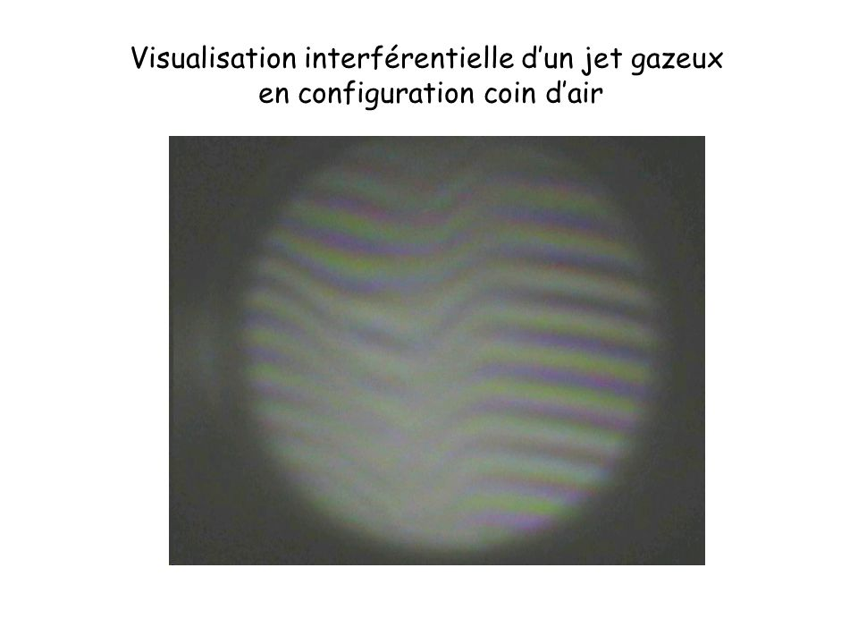 Visualisation interférentielle d'un jet gazeux
