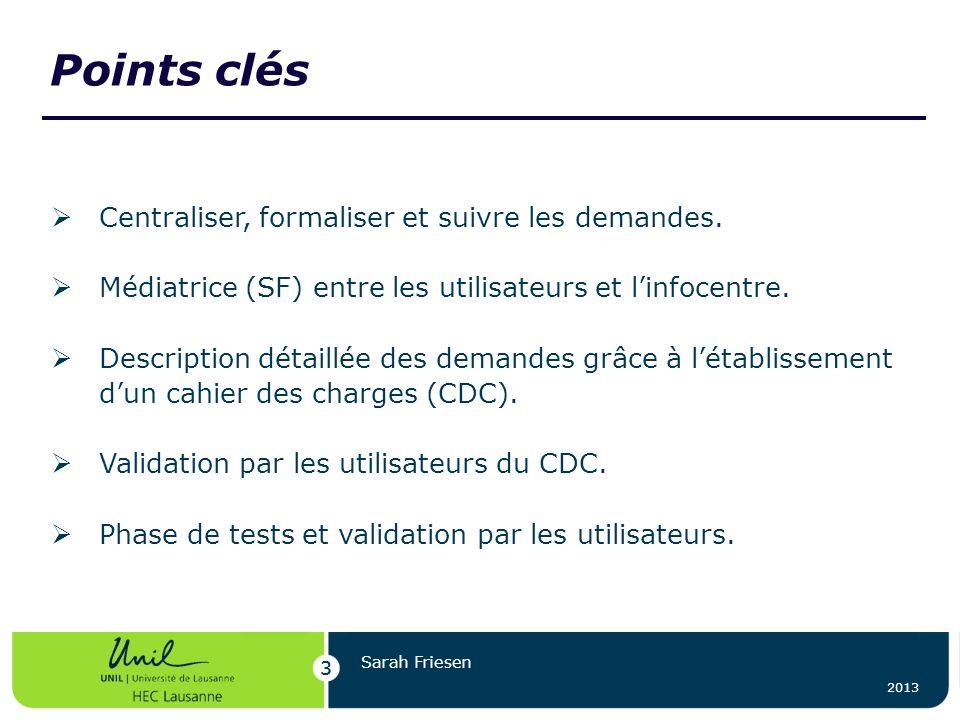 Points clés Centraliser, formaliser et suivre les demandes.