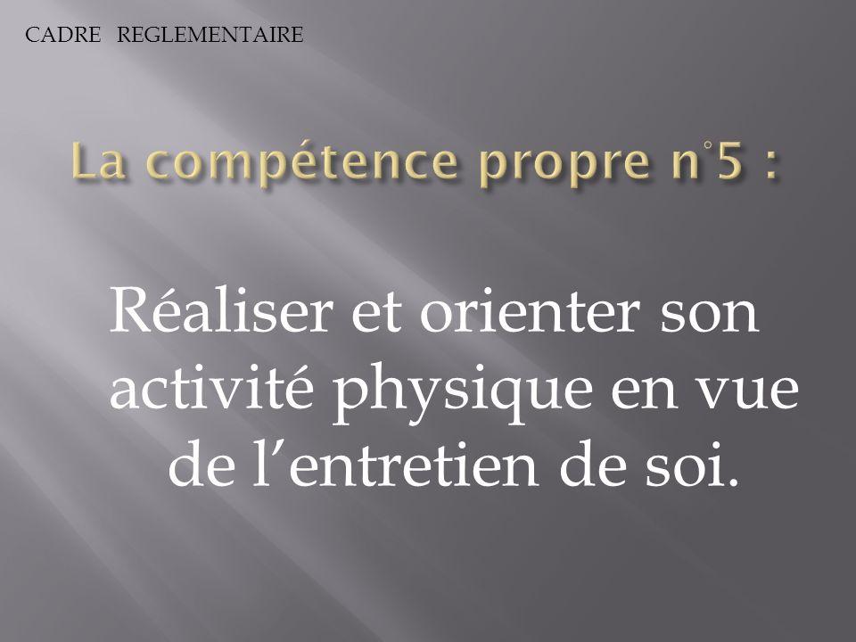 La compétence propre n°5 :