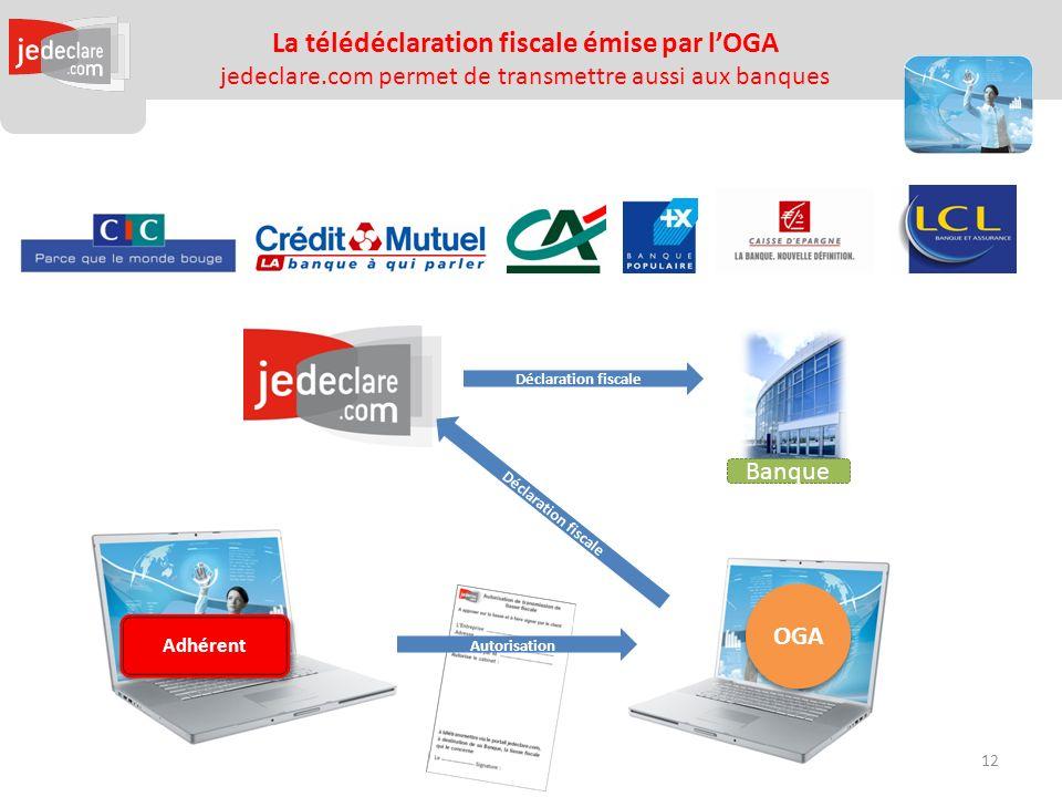 La télédéclaration fiscale émise par l'OGA jedeclare