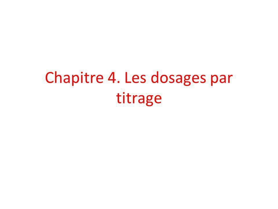 Chapitre 4. Les dosages par titrage