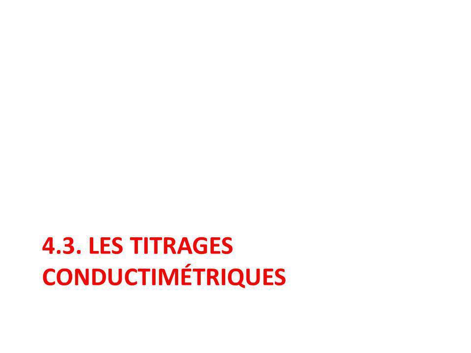 4.3. les titrages conductimétriques