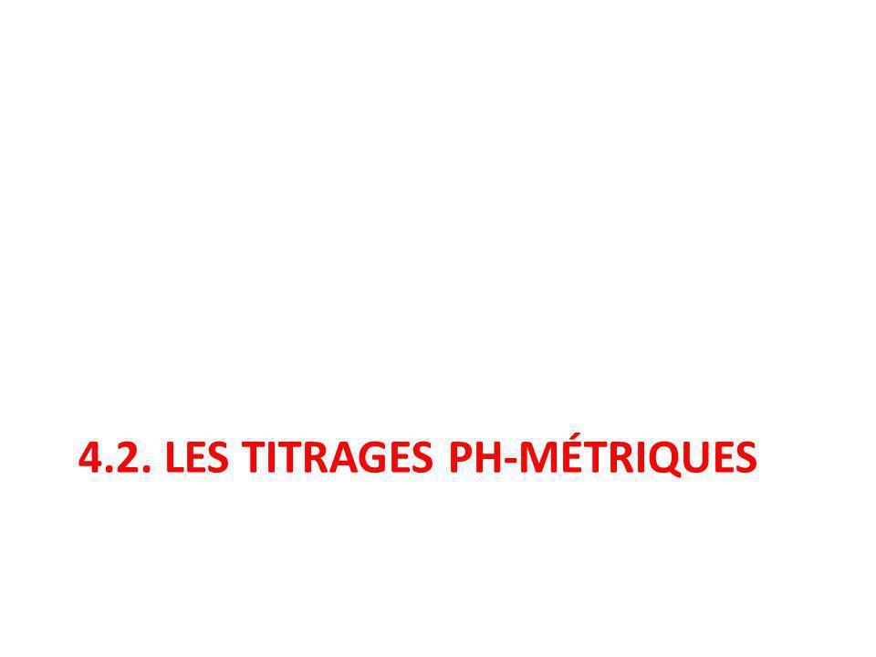 4.2. Les titrages ph-métriques