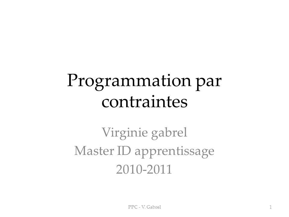 Programmation par contraintes