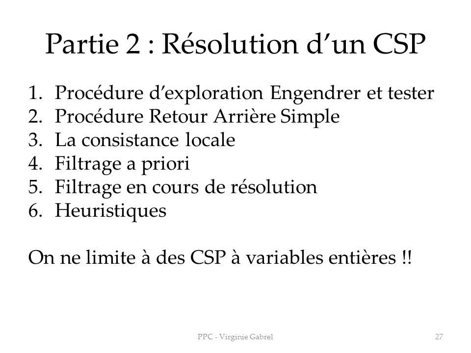 Partie 2 : Résolution d'un CSP