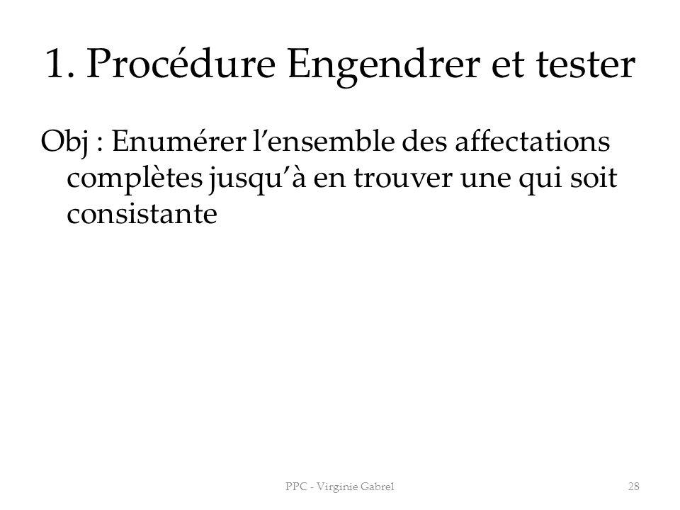 1. Procédure Engendrer et tester