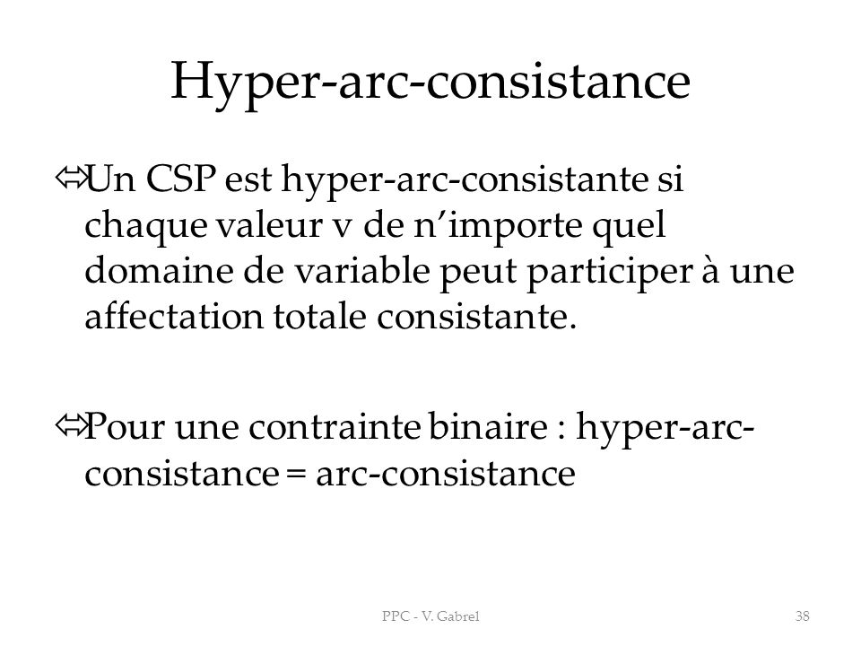Hyper-arc-consistance