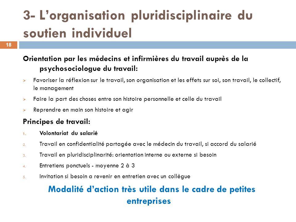 3- L'organisation pluridisciplinaire du soutien individuel