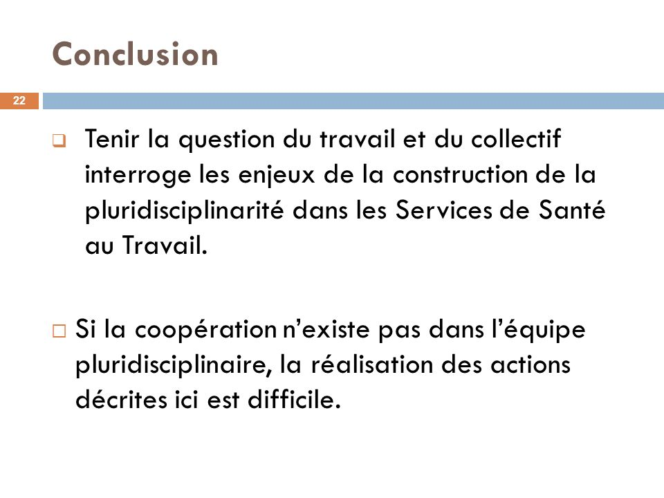 Conclusion 22.