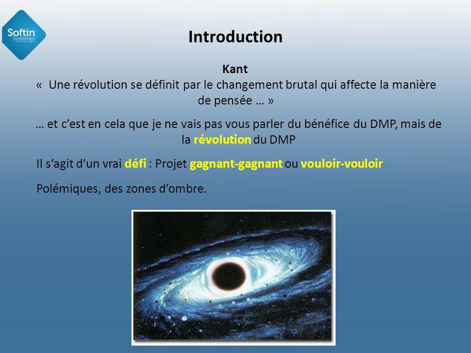 IntroductionKant « Une révolution se définit par le changement brutal qui affecte la manière de pensée … »