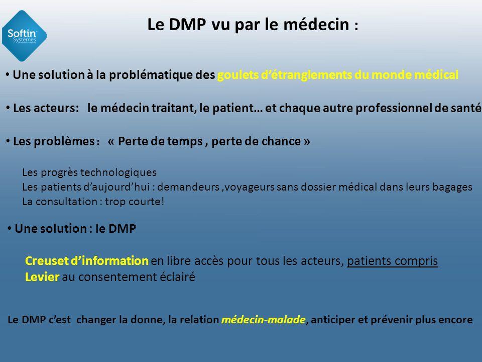Le DMP vu par le médecin :
