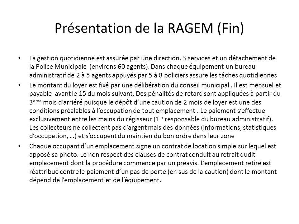 Présentation de la RAGEM (Fin)