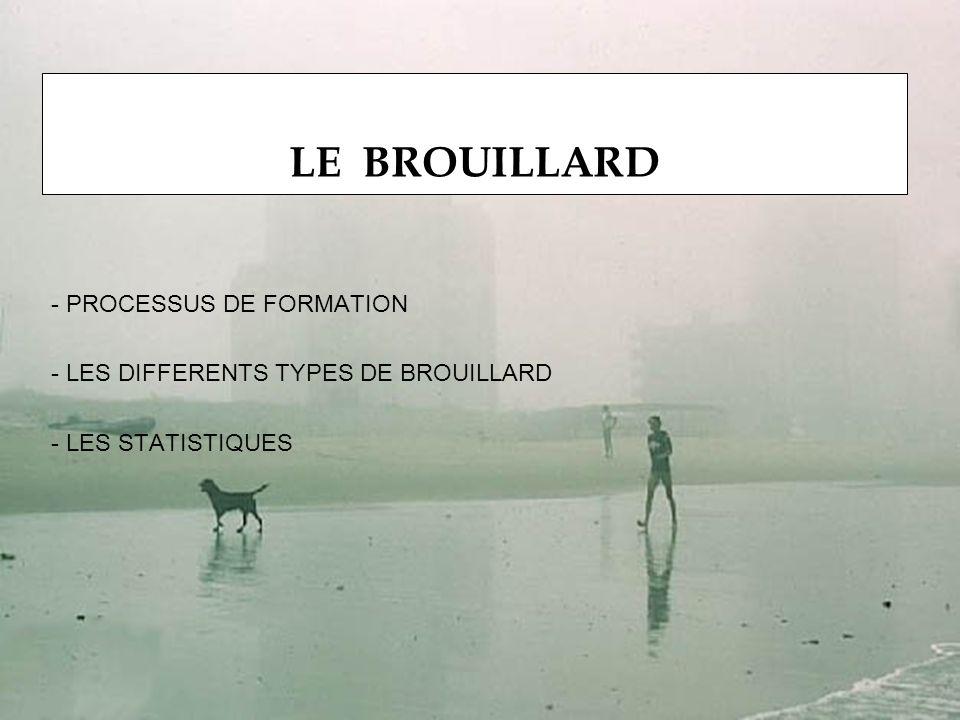 LE BROUILLARD PROCESSUS DE FORMATION