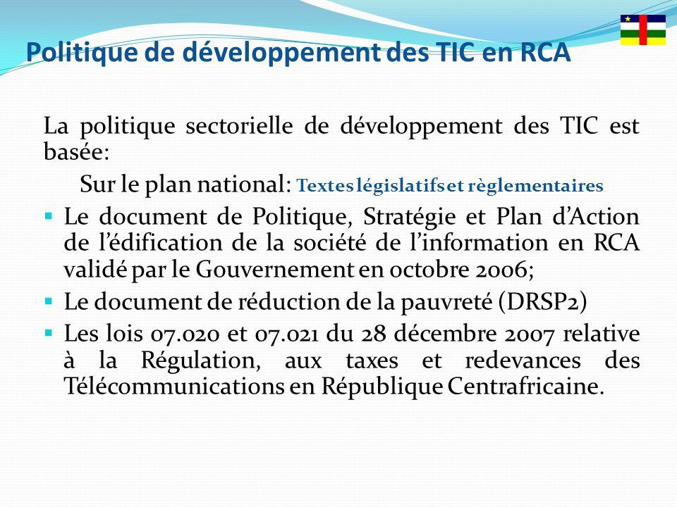Politique de développement des TIC en RCA