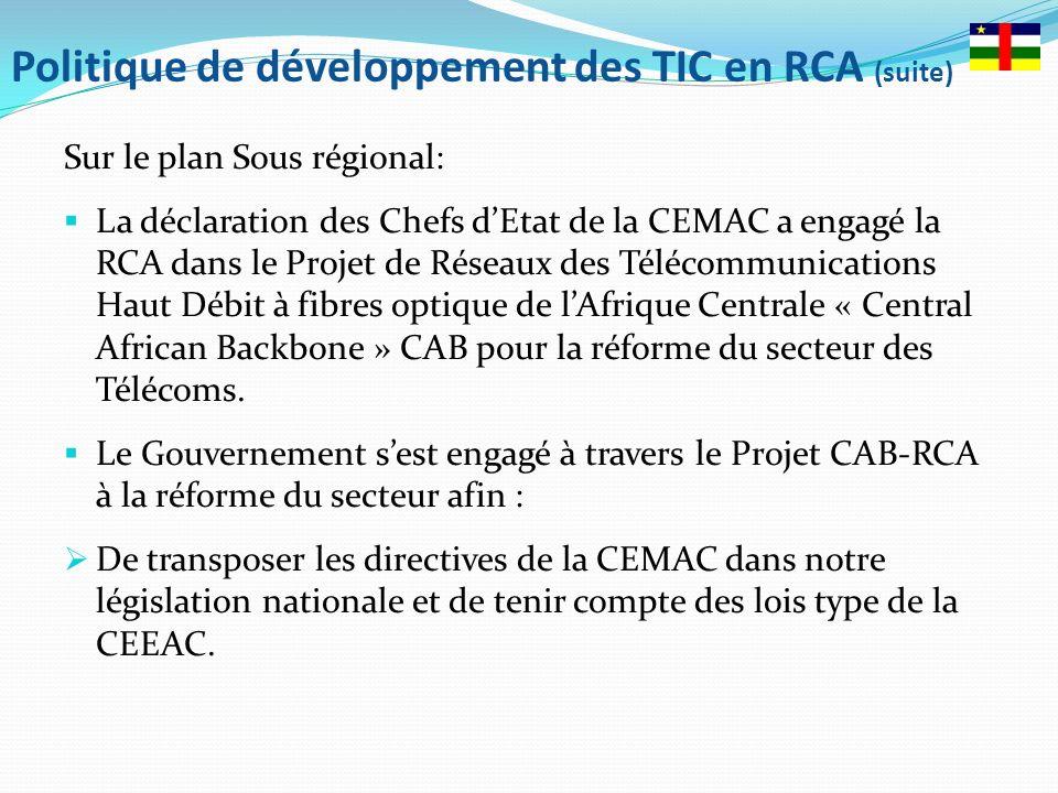 Politique de développement des TIC en RCA (suite)