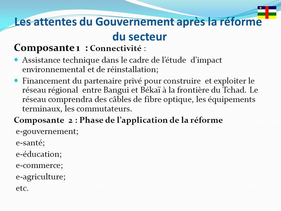 Les attentes du Gouvernement après la réforme du secteur