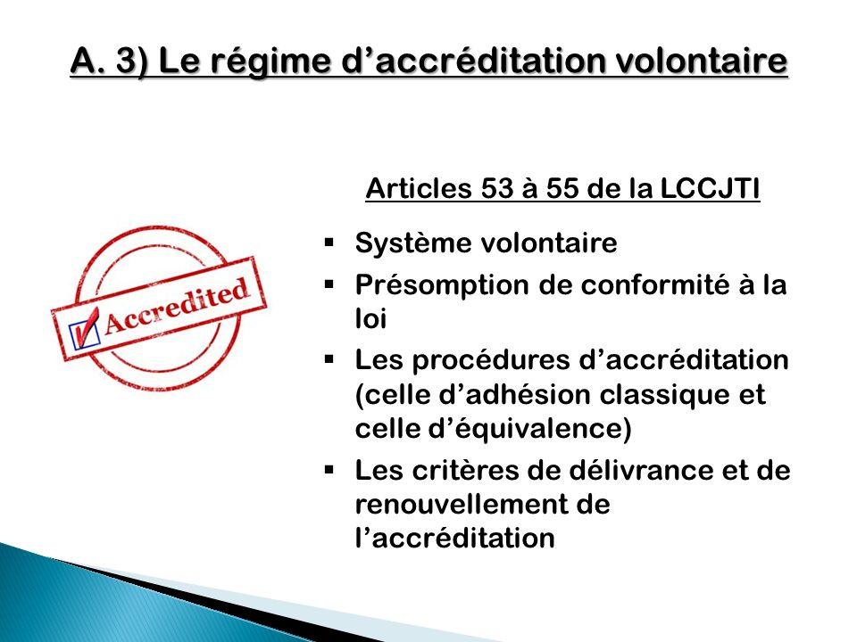 A. 3) Le régime d'accréditation volontaire
