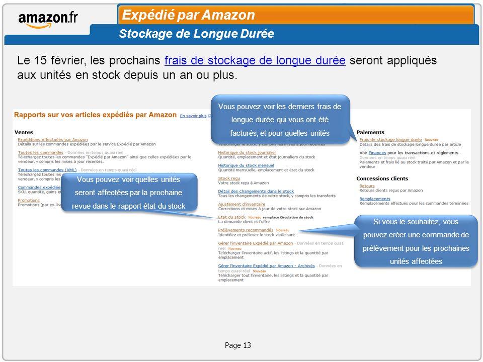 Expédié par Amazon Stockage de Longue Durée
