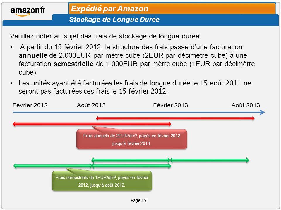 Frais annuels de 2EUR/dm3, payés en février 2012 jusqu'à février 2013.