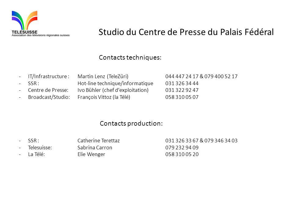 Studio du Centre de Presse du Palais Fédéral