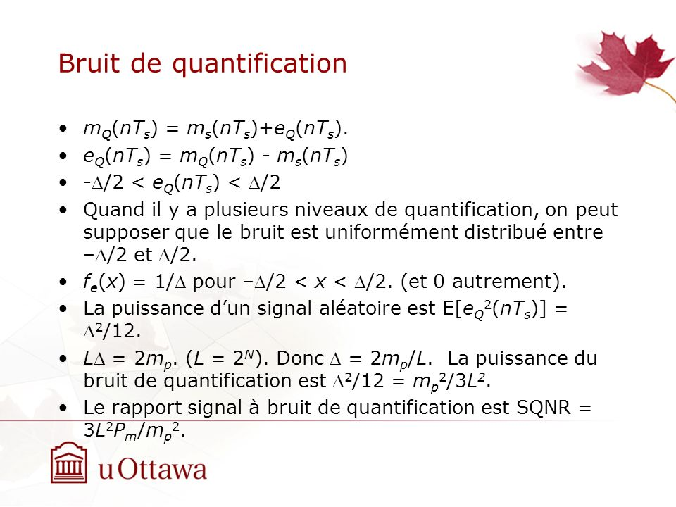 Bruit de quantification