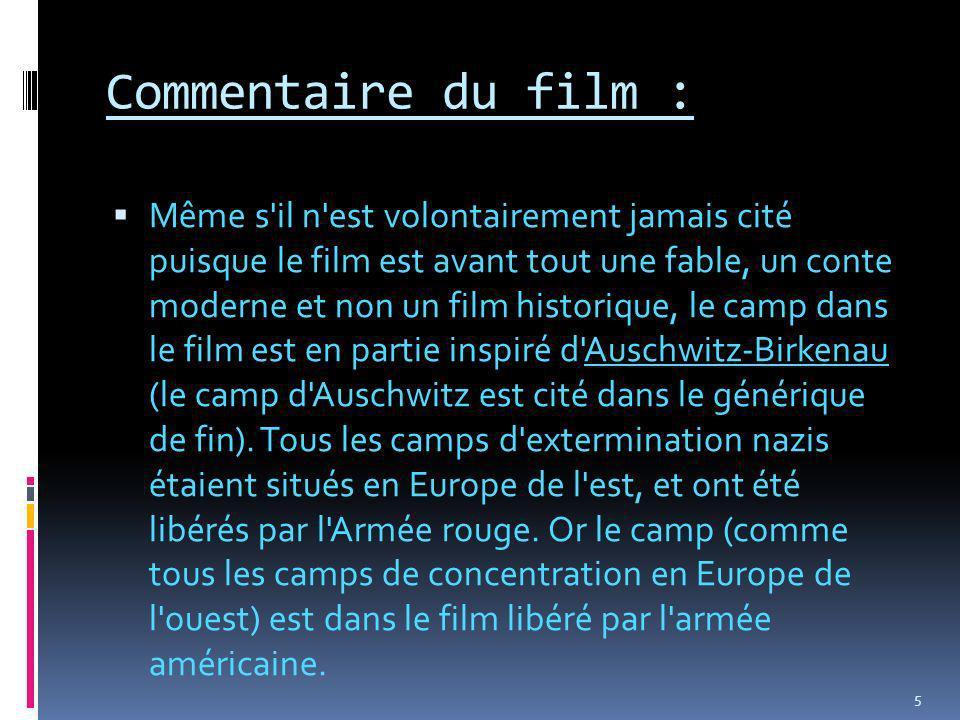Commentaire du film :