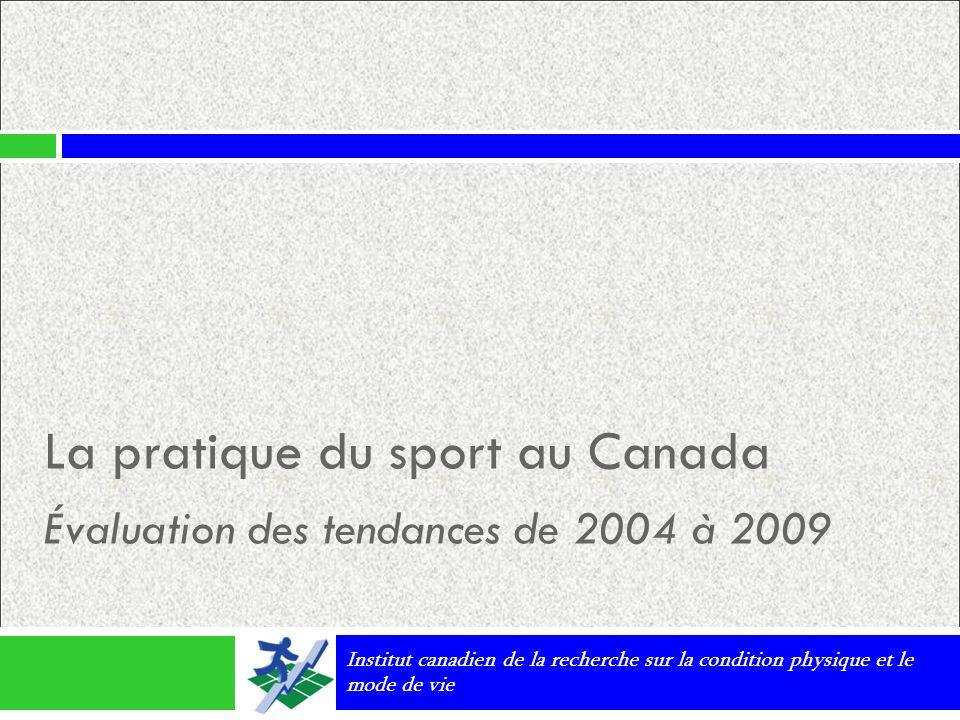 La pratique du sport au Canada Évaluation des tendances de 2004 à 2009